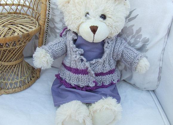 """Molly Crochet CardiganPattern for 16"""" Bears"""
