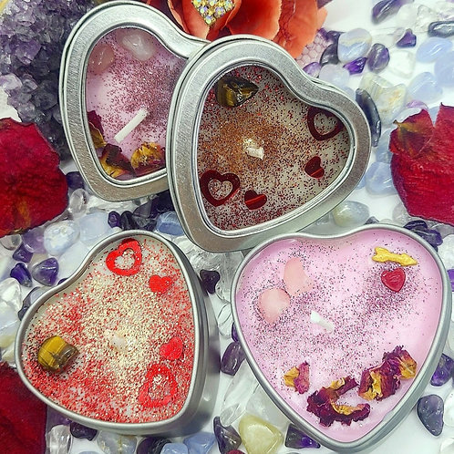 Valentine's Day Crystal Candles