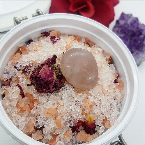 Peach Berry Bath Soak w/Crystal Topper