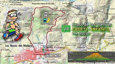 VII CROSS DE LOS VIENTOS -RECORRIDO CADETE INFANTIL (11K 300 D+)
