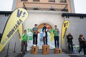 Anouar Dabab, Eliseo Bodelón y Claudio Diaz se suben al podium del VII Cross de Los Vientos