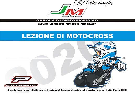 carta regalo per i corsi di moto