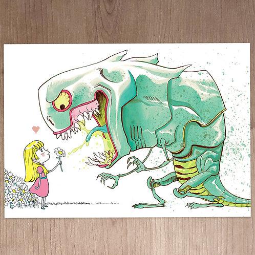"PRINT A5 -  ""Monster daisy"""