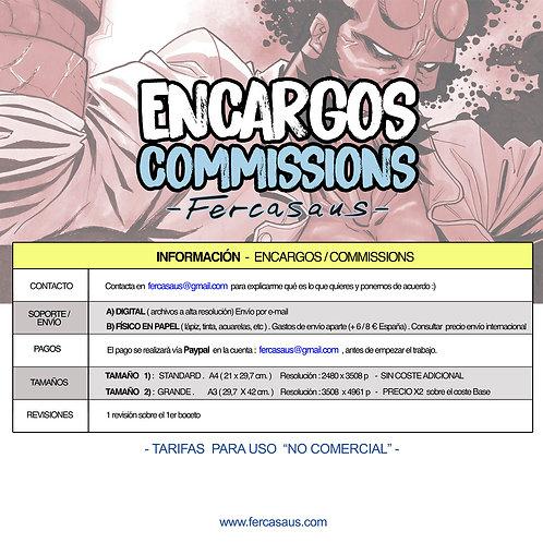 TARIFAS COMMISSIONS / Encargos  Fercasaus 2020