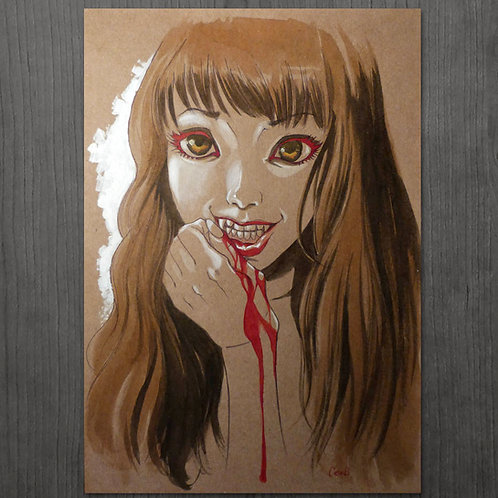 """dibujo ORIGINAL""""Vampire girl"""" - Color"""