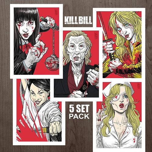 """PACK 5 PRINTS """"KILLBILL"""" - A5"""