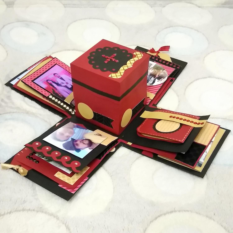 Exploding box birthday gifts for boyfrie