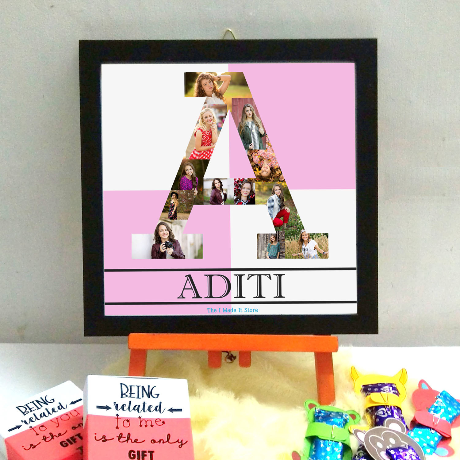 alphabet frame birthday gifts The I Made