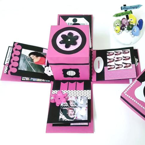 Exploding box birthday gifts for boyfriend
