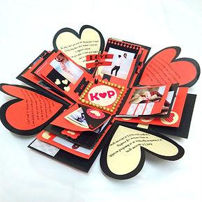 Exploding Box love birthday anniversary