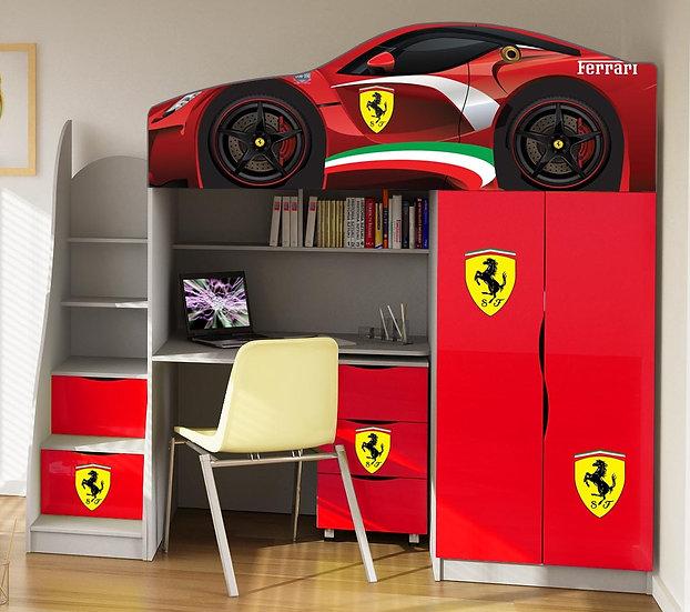 Кровать чердак машина для мальчика