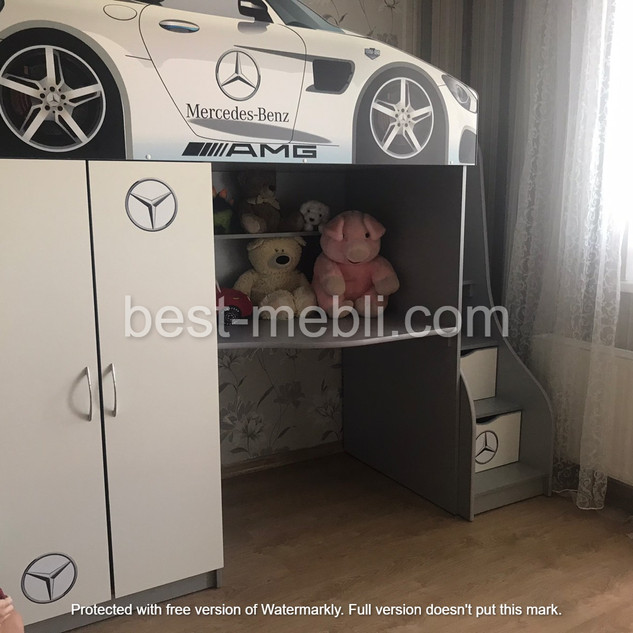Кровать чердак машина