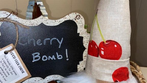 """Cherry Bomb"" Scandinavian Gnome 13 1/2"" x 4"""