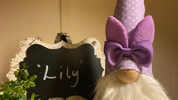 """""""Lilly"""" the Scandanavian Bunny Rabbit Gnome with Shoes"""