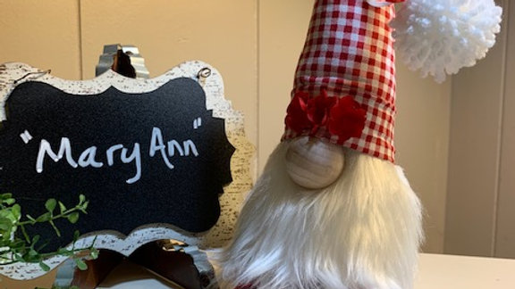 """""""Mary Ann"""" Scandanavian Custom Gnome with Red Shoes"""