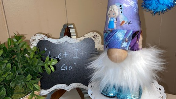 "Frozens ""Let It Go"" Scandinavian Gnome 13 1/2"" x 4"" with Interchangable Magnets"