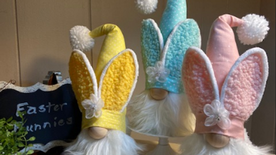 """""""Easter Bunnies"""" Scandanavian Gnomes (choice of Pink, Yellow, Blue)"""