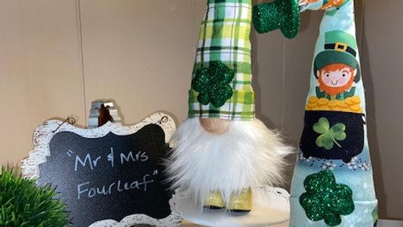 """Mr & Mrs Fourleaf"" Scandanavian Gnomes (includes both)"