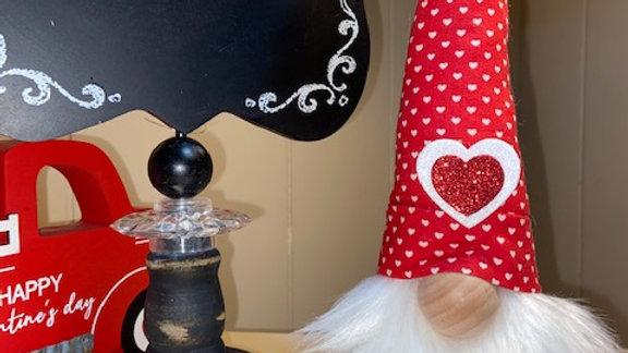 """Hearts On Fire"" Valentines Scandinavian Gnome 13 1/2"" x 4"""