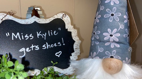 """""""Miss Kylie"""" Scandinavian Gnome 13 1/2"""" x 4"""" with Shoes"""