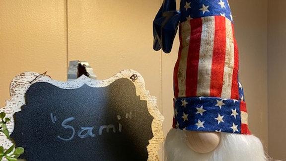"Farmhouse Americana ""Sami"" Scandanavian Patriotic Gnome"