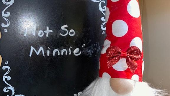 """""""Not So Minnie"""" Scandinavian Gnome 13 1/2"""" x 4"""" with Shoes"""
