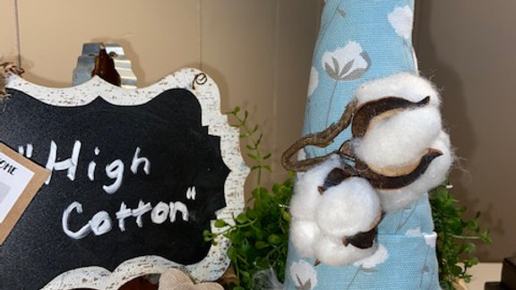 """""""High Cotton"""" Scandinavian Gnome 13 1/2"""" x 4"""" with Interchangeable Add Ons"""