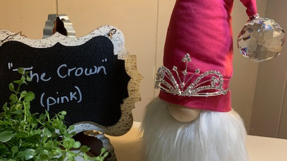 """""""The Crown"""" in Pink - Scandanavian Gnome"""