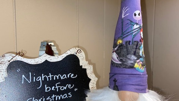 """Nightmare Before Christmas"" Scandinavian Gnome 13 1/2"" x 4"""