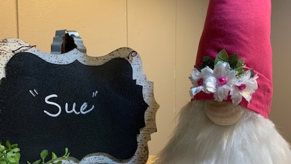 """""""Sue"""" Scandanavian Custom Gnome with Floral Shoes"""