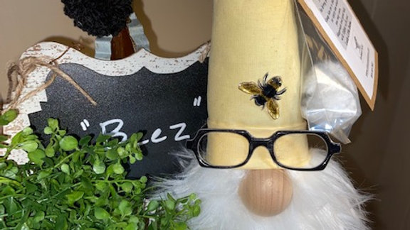 """""""Beez"""" Scandinavian Gnome 13 1/2"""" x 4"""" with Glasses"""