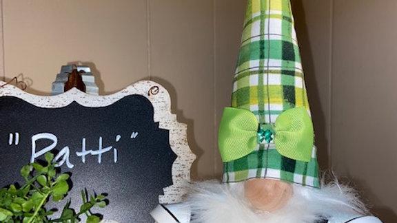 """Patti"" St Patricks Day Scandanavian Gnome"