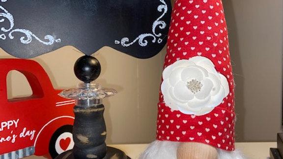 """Sweet Heart"" Valentines Scandinavian Gnome 13 1/2"" x 4"""