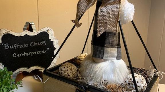 """Buffalo Check Centerpiece"" Scandanavian Custom Farmhouse Gnome Display"