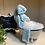 """Thumbnail: """"Spa Day"""" Scandanavian Gnome with Enamel Footed Tub"""