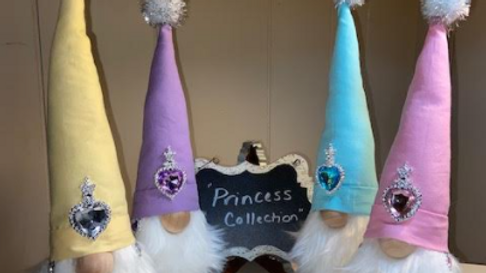 """Princess Collection"" Scandinavian Gnome  with Shoes"