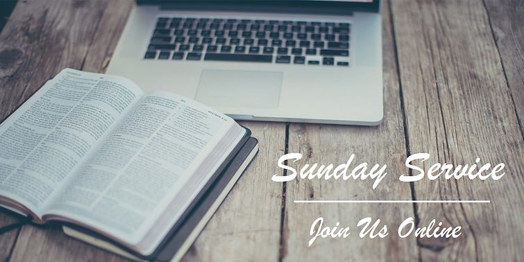 Online Sunday Service - Computer & Bible