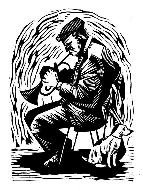 Jazz Trumpeter and Dog