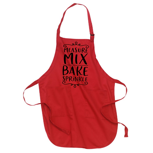 Measure Mix Bake Sprinkle Apron