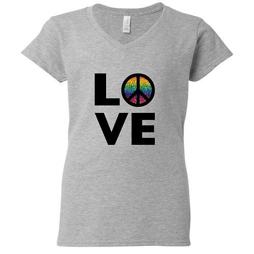 Rainbow Peace Love T-Shirt
