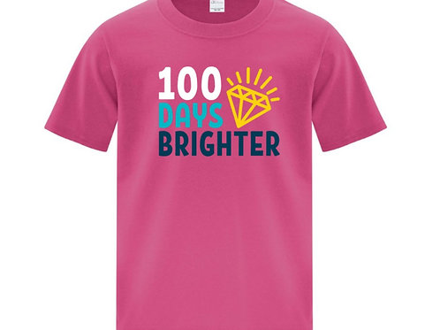 Youth Brighter 100 Days of School T-Shirt