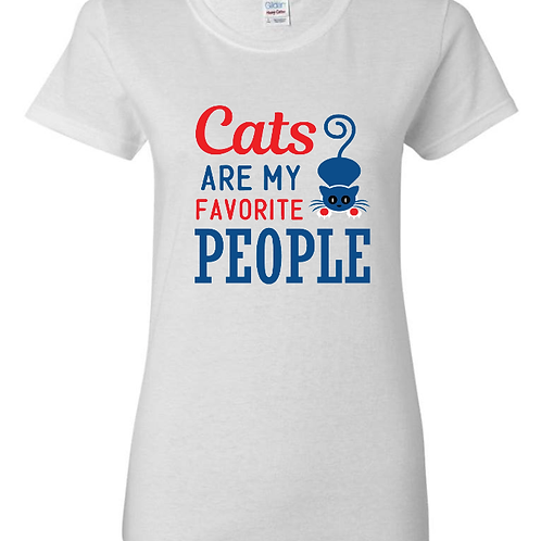 Cats Are My Favorite People Ladies Fit T-Shirt
