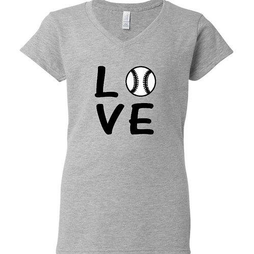 Baseball Love Ladies T-Shirt