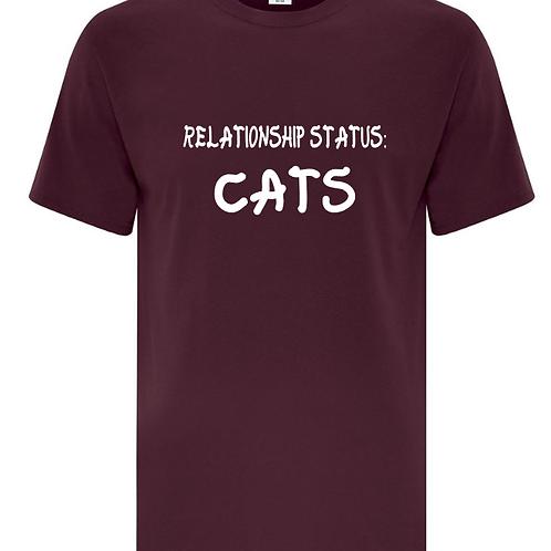 Relationship Status Cats Unisex T-Shirt