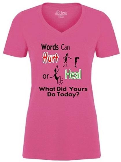 Ladies V Neck Anti Bullying T-Shirt