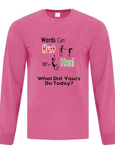 Unisex Long Sleeve Anti Bullying T-Shirt
