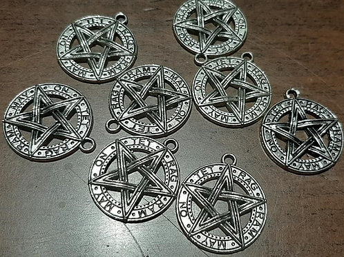 Pentacles Silver 27mm Long Charm
