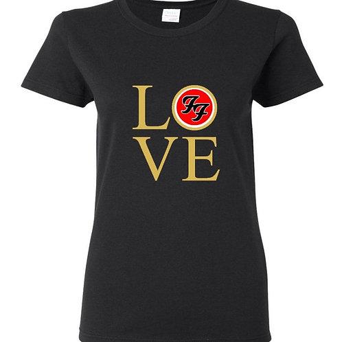 Love FF Gold Logo Ladies Fit T-Shirt