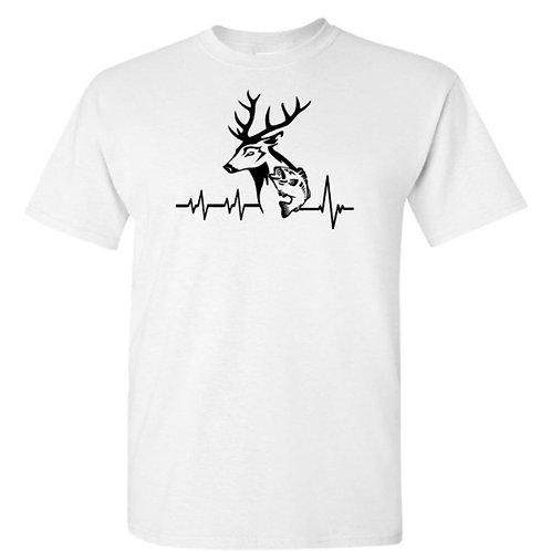 Deer Fish Heartbeat T-Shirt