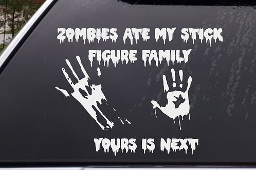 Zombies Ate My Stick Figure Family